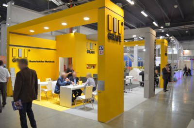 Company stand GRAFE POLSKA Sp. z o.o. on trade show PLASTPOL 2014