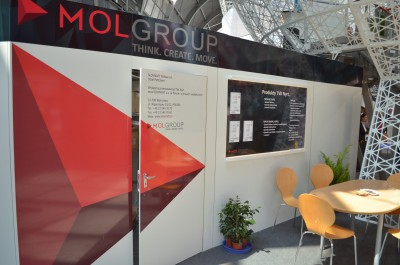 Company stand MOL - HUNGARIAN OIL & GAS COMPANY PLC. on trade show PLASTPOL 2014