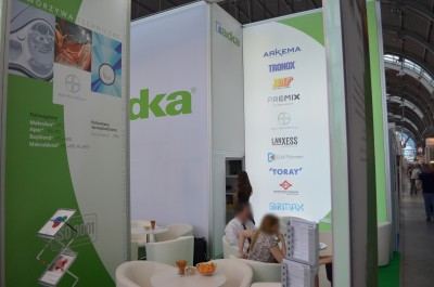 Company stand RADKA POLSKA Sp. z o.o. on trade show PLASTPOL 2014