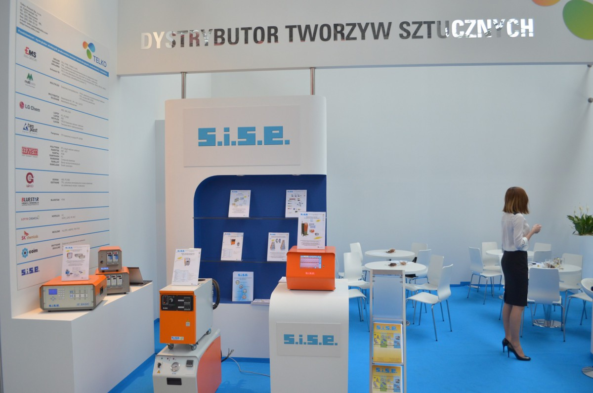 Company stand SK Chemicals on trade show PLASTPOL 2014