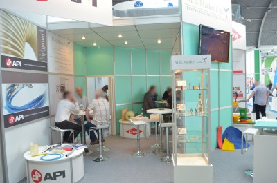 Company stand M.B. Market LTD on trade show PLASTPOL 2014