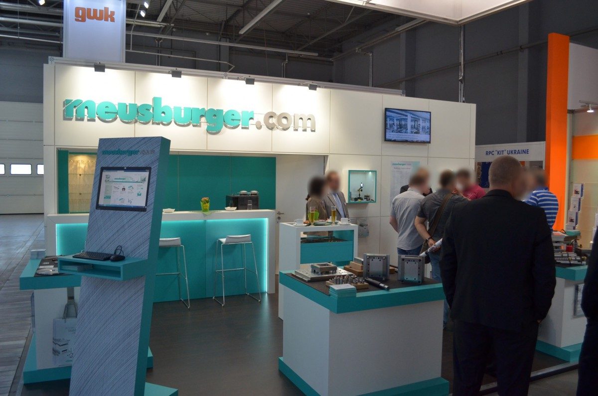 Company stand MEUSBURGER GEORG GmbH & Co KG Standard moulds on trade show PLASTPOL 2014