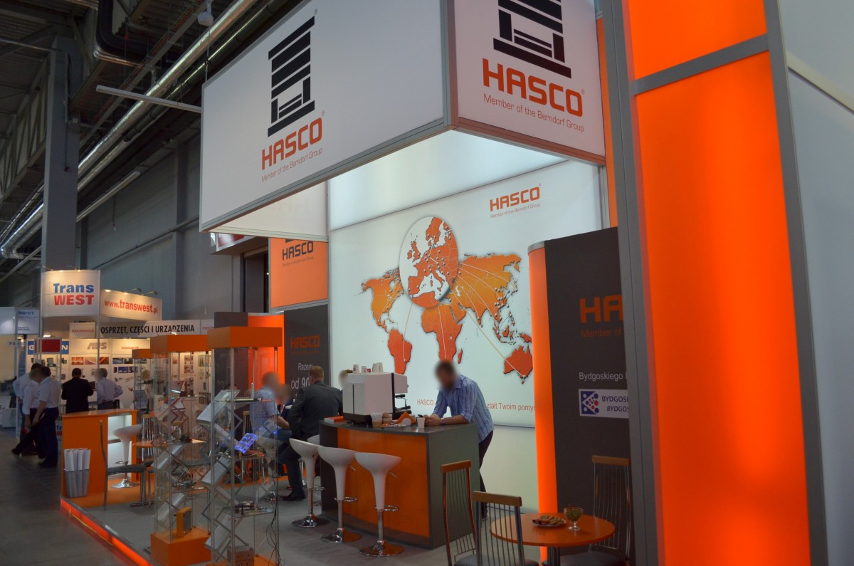 Company stand HASCO POLSKA Sp. z o.o. on trade show PLASTPOL 2014
