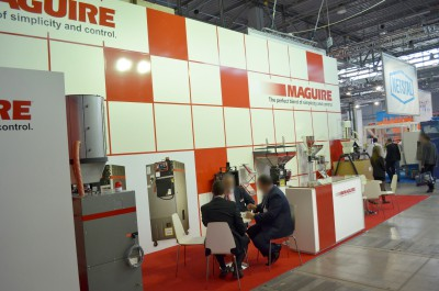 Company stand MAGUIRE Europe on trade show PLASTPOL 2014