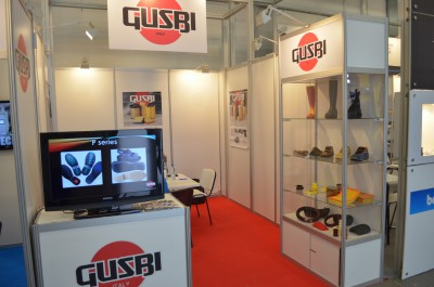 Company stand GUSBI OFFICINA MECCANICA S.P.A. on trade show PLASTPOL 2014
