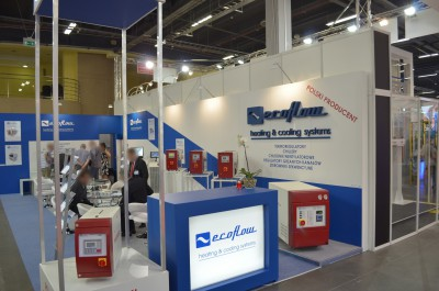 Company stand ECOFLOW Solutions for Plastic on trade show PLASTPOL 2014