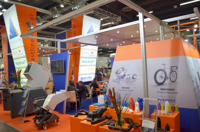 Company stand MOTAN-COLORTRONIC GmbH on trade show PLASTPOL 2014
