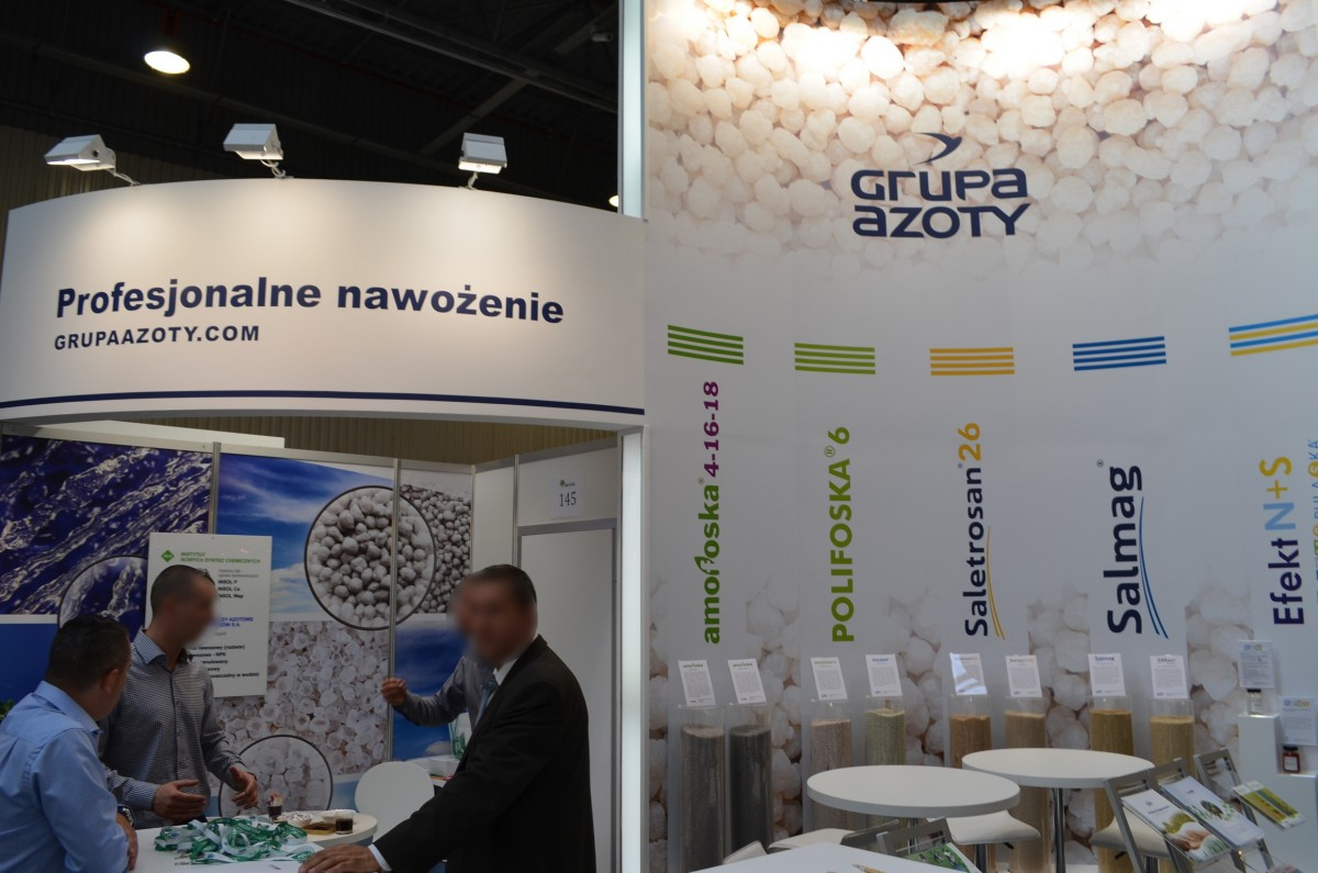 Company stand GRUPA AZOTY S.A on trade show GREEN IS LIFE 2014