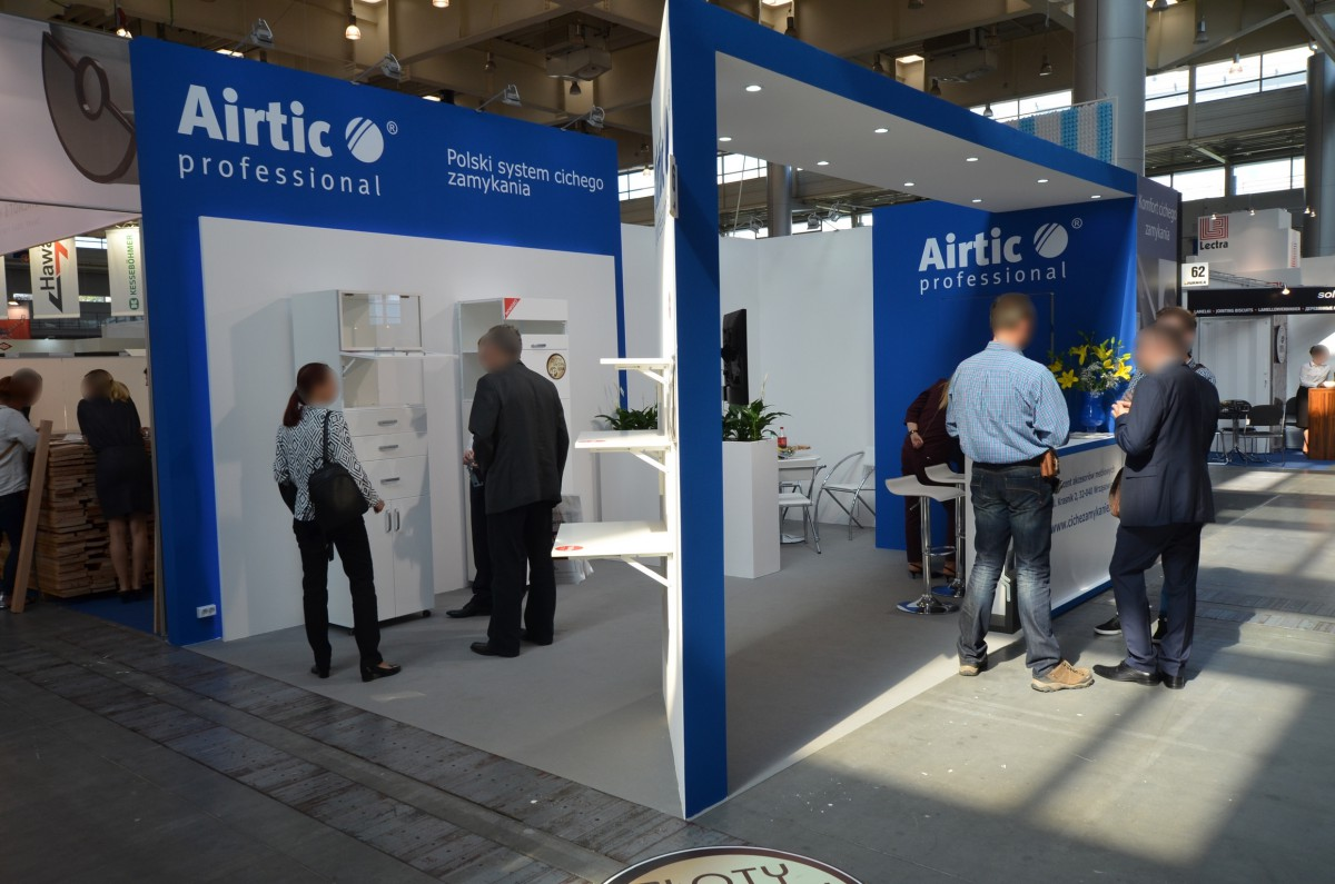 Company stand AIRTIC PROFESSIONAL on trade show FURNICA 2014