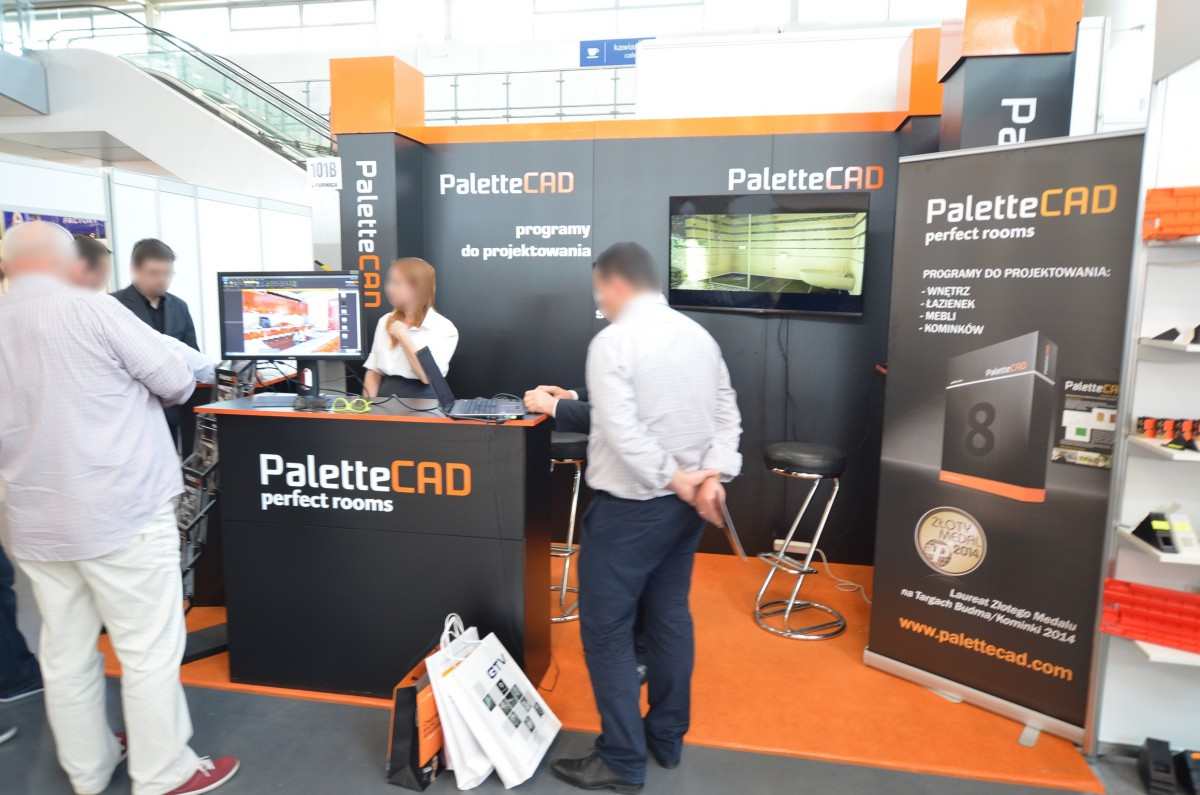 Company stand Palette CAD on trade show FURNICA 2014