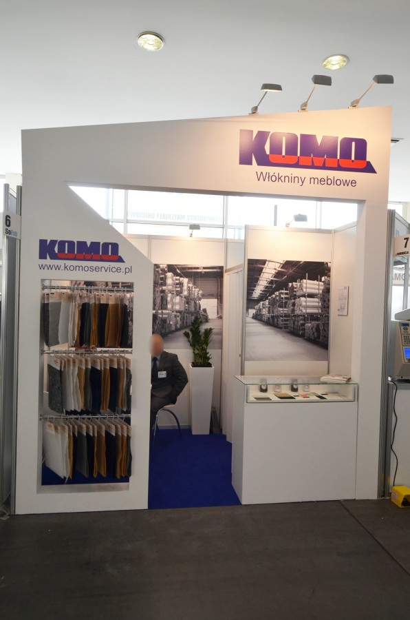 Company stand Komo Service Sp. z o.o. on trade show SOFAB 2014