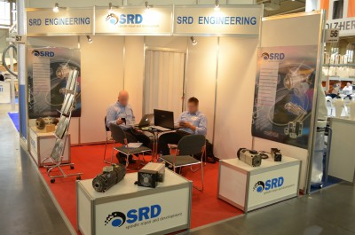 Company stand SRD ENGINEERING srl on trade show DREMA 2014