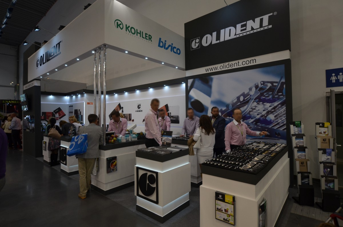 Company stand OLIDENT on trade show CEDE 2014