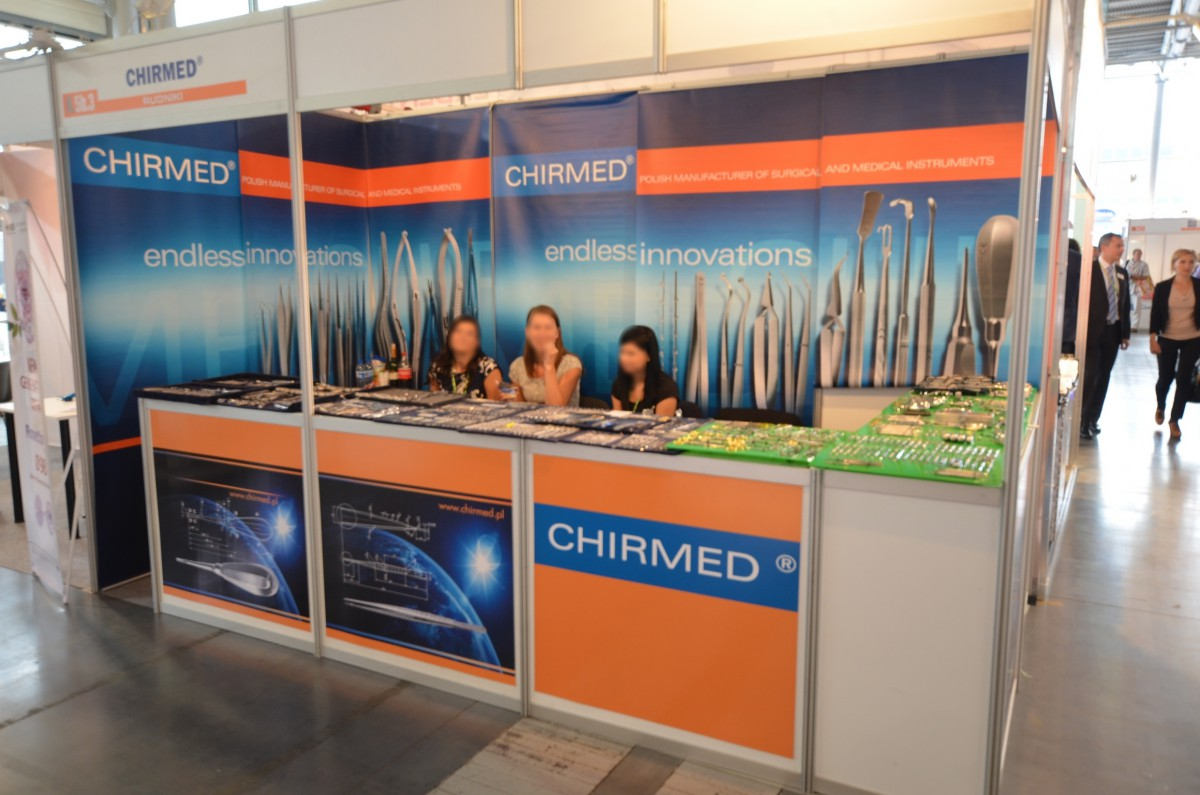 Company stand CHIRMED  on trade show CEDE 2014
