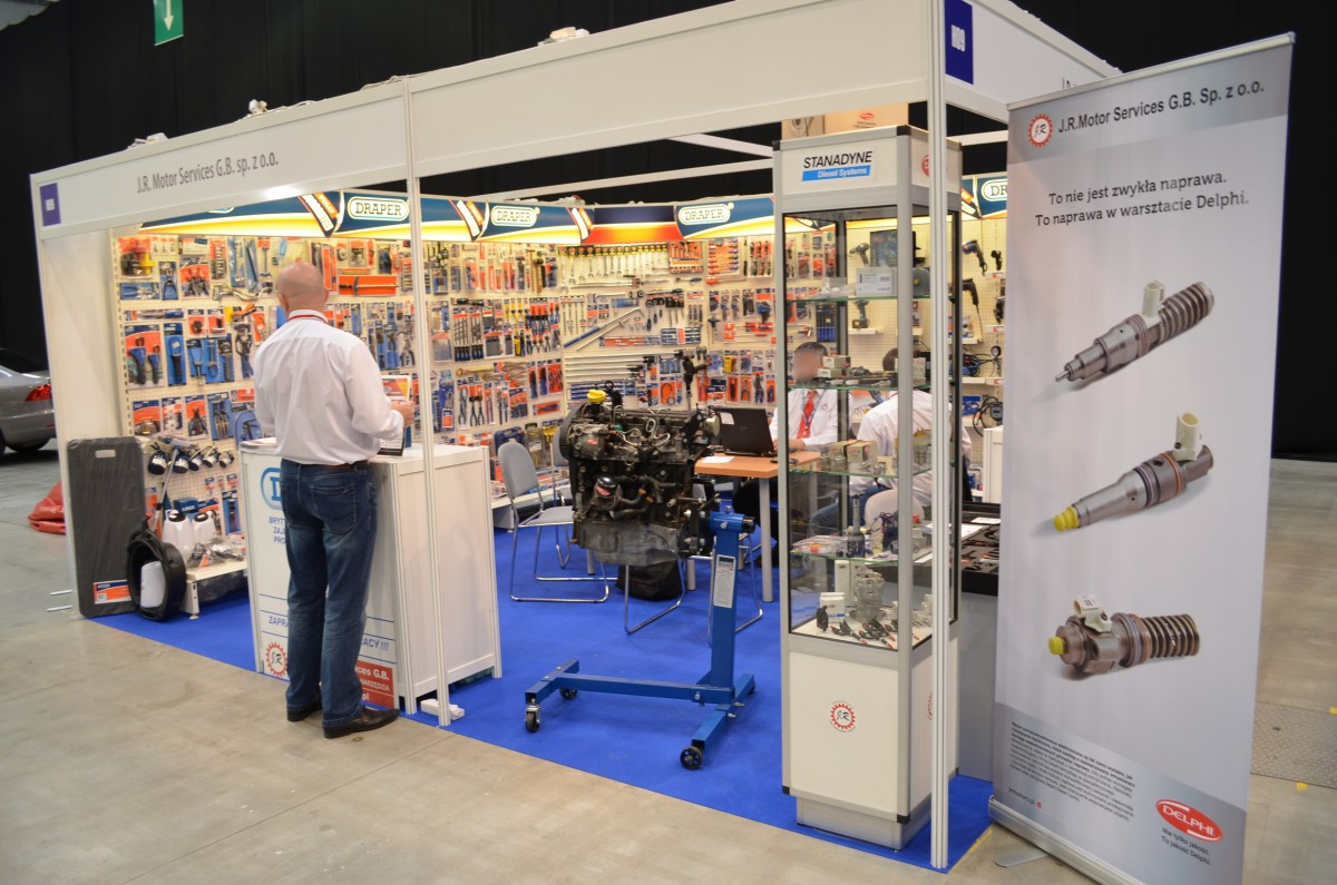 Company stand J.R. MOTOR SERVICES G.B. Sp. z o.o. on trade show AUTO EXPO PARTS & SERVICE 2014