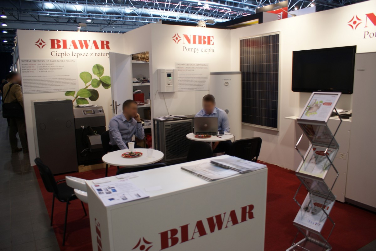 Company stand NIBE-BIAWAR Sp. z o.o. on trade show RENEXPO POLAND 2014