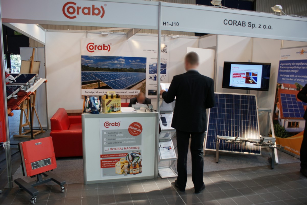 Company stand CORAB Sp. z o.o. on trade show RENEXPO POLAND 2014