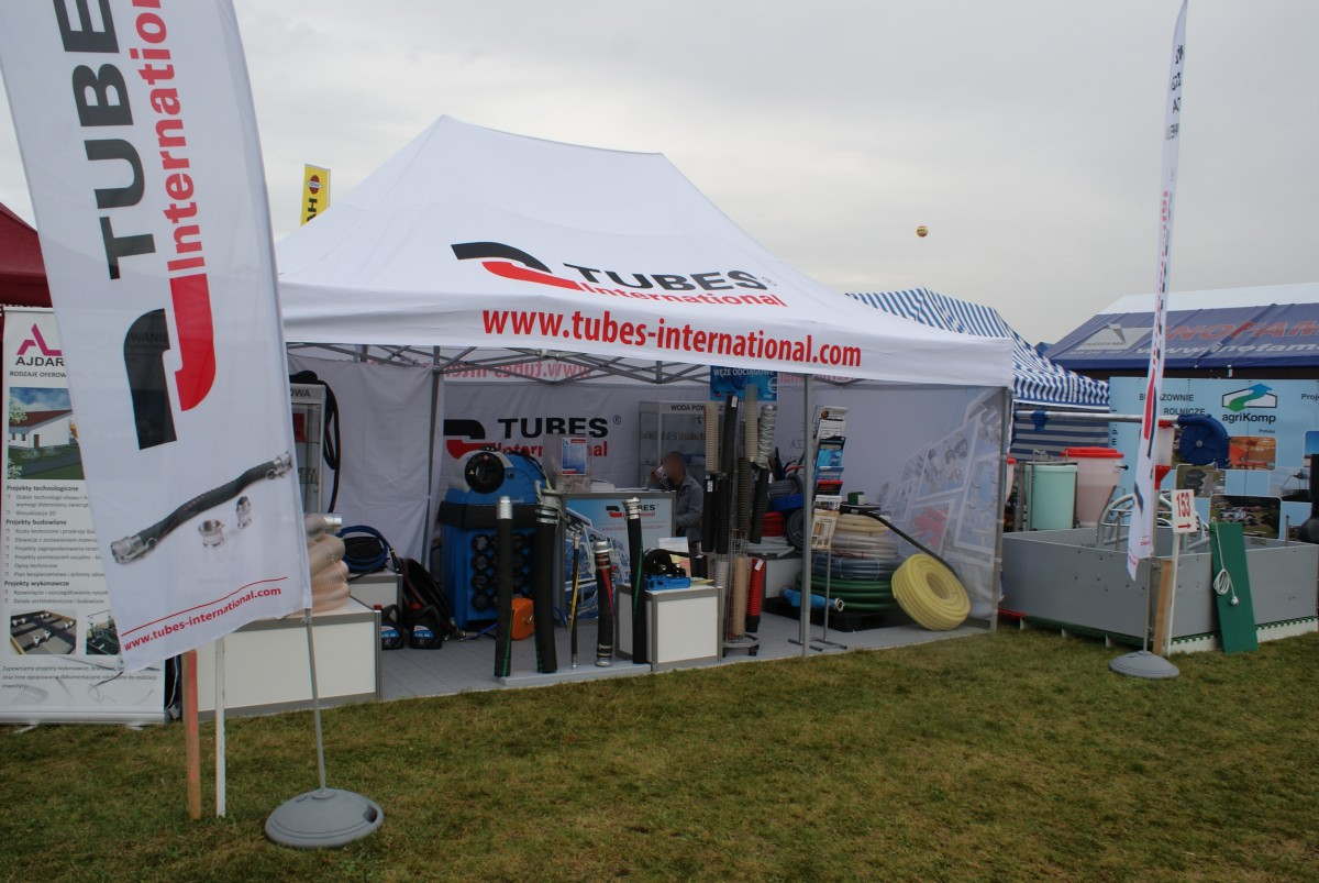 Company stand TUBES International Sp. z o.o. on trade show AGROSHOW 2014