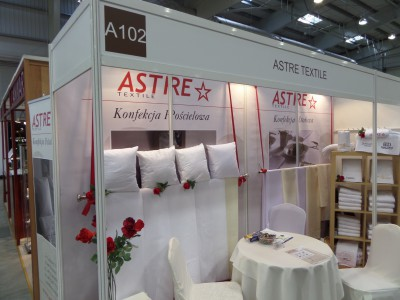 Company stand ASTRE TEXTILE on trade show WORLDHOTEL 2014