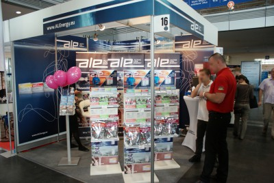 Company stand ALE Sp. z o.o. on trade show POZNAŃ SPORT FAIR 2014