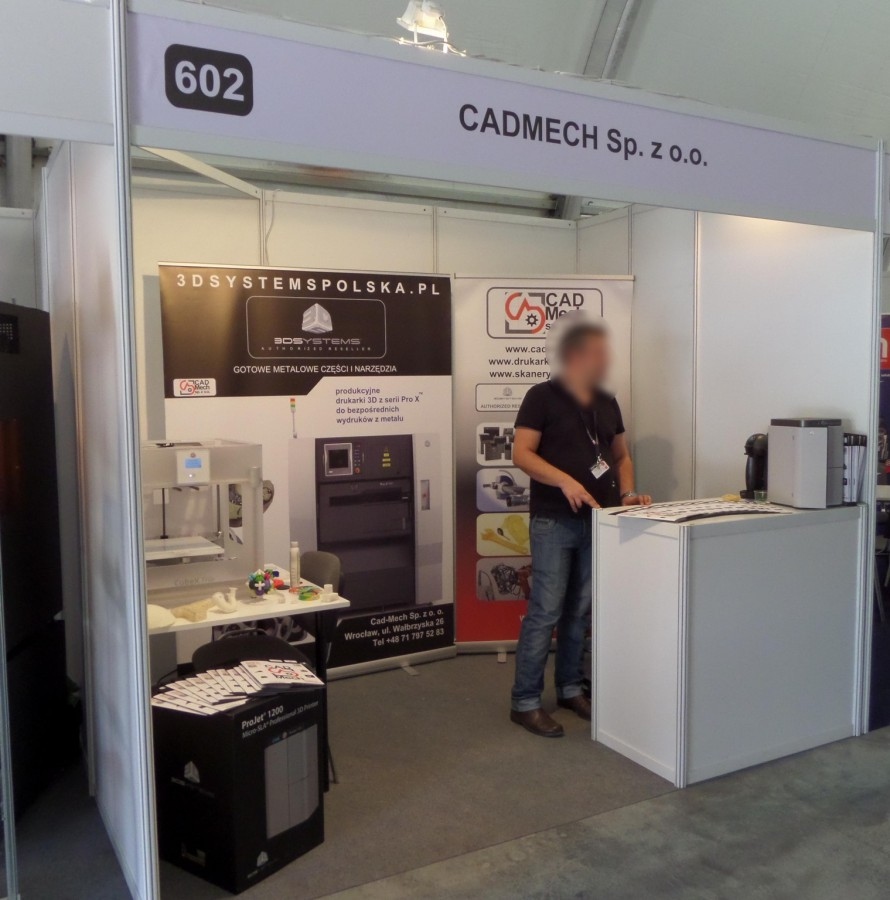 Company stand CAD-MECH Sp. z o.o. on trade show TOOLEX & WIRTOTECHNOLOGIA & LASEREXPO 2014