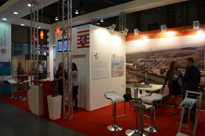 Company stand HESSEN TRADE & INVEST GmbH on trade show POLEKO 2014