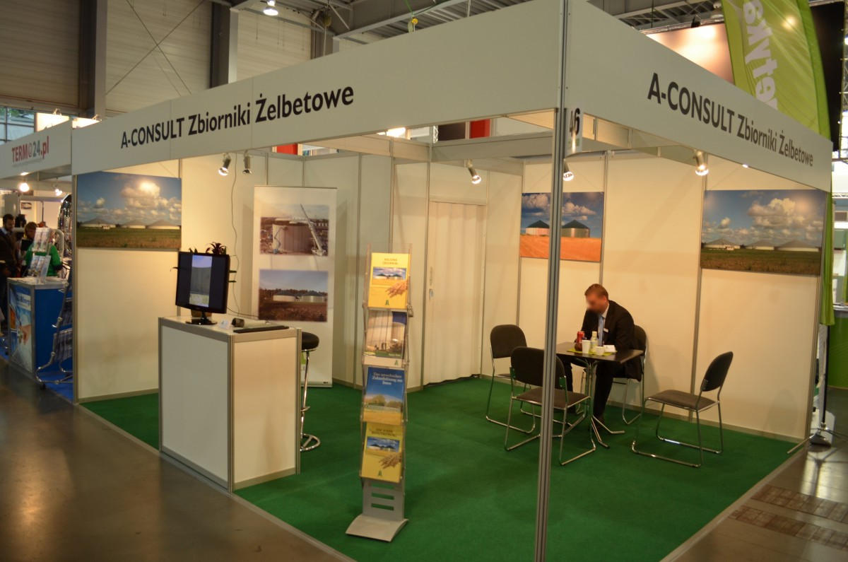 Company stand A-Consult GmbH on trade show POLEKO 2014
