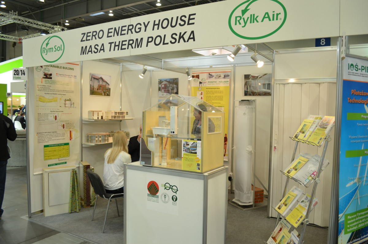 Company stand MASA THERM POLSKA Sp. z o.o. on trade show POLEKO 2014