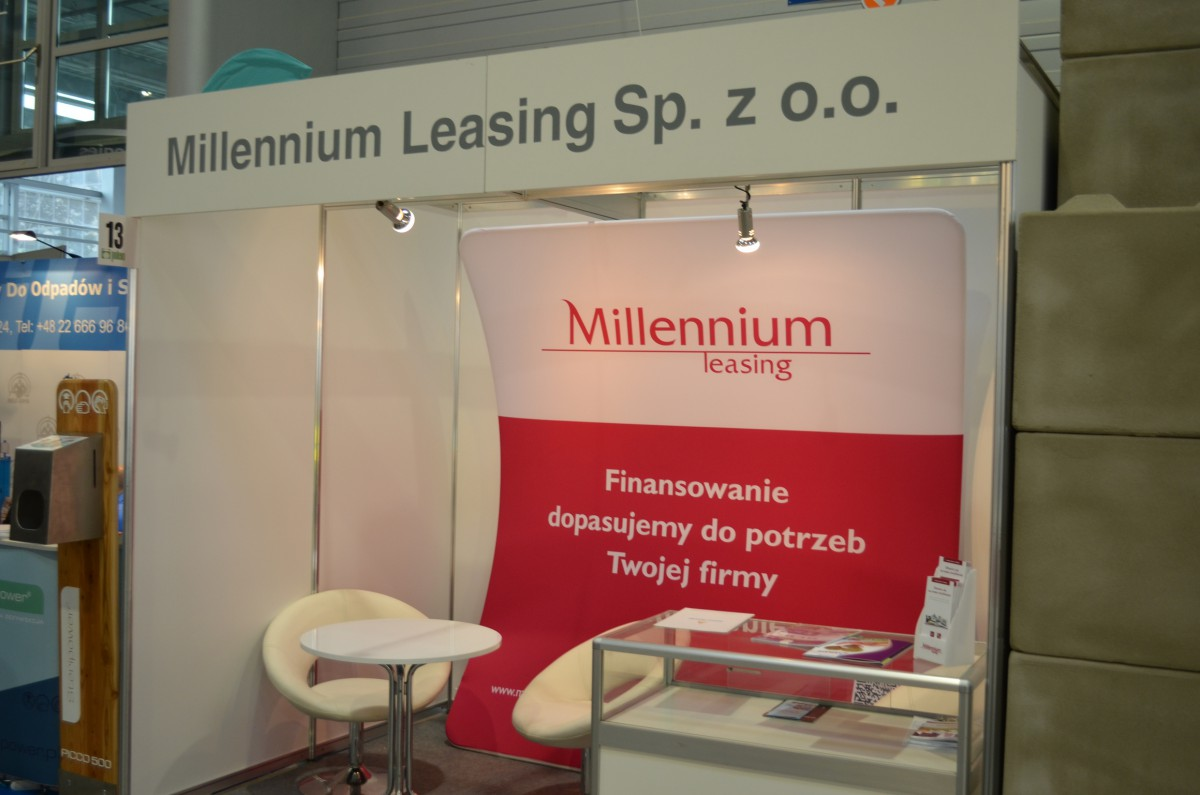 Company stand MILLENNIUM LEASING Sp. z o.o. on trade show POLEKO 2014