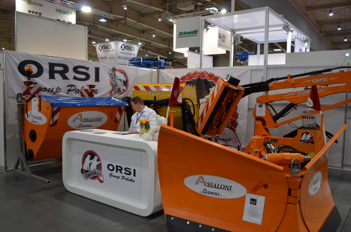 Company stand Orsi Group Polska on trade show KOMTECHNIKA 2014