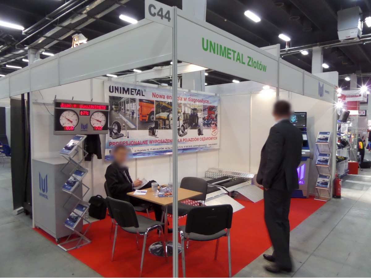 Company stand UNIMETAL Sp. z o.o. on trade show TRANSEXPO 2014