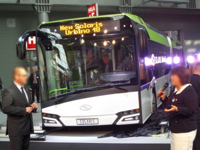 Company stand SOLARIS BUS & COACH S.A. on trade show TRANSEXPO 2014