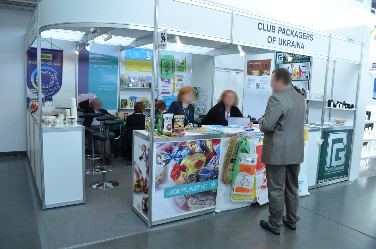 Company stand CLUB PACKAGERS OF UKRAINE on trade show TAROPAK 2014