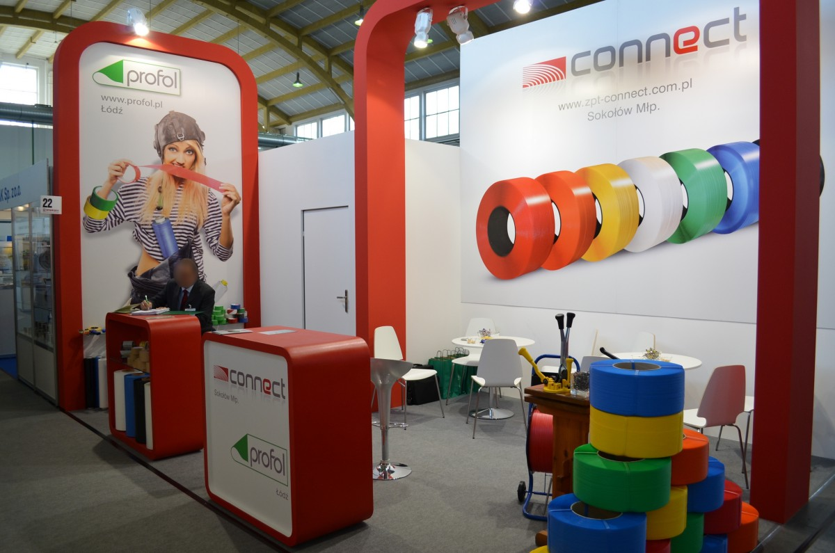 Company stand CONNECT Sp. z o.o. on trade show TAROPAK 2014