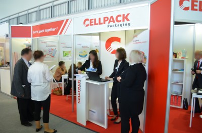 Company stand CELLPACK PACKAGING on trade show TAROPAK 2014