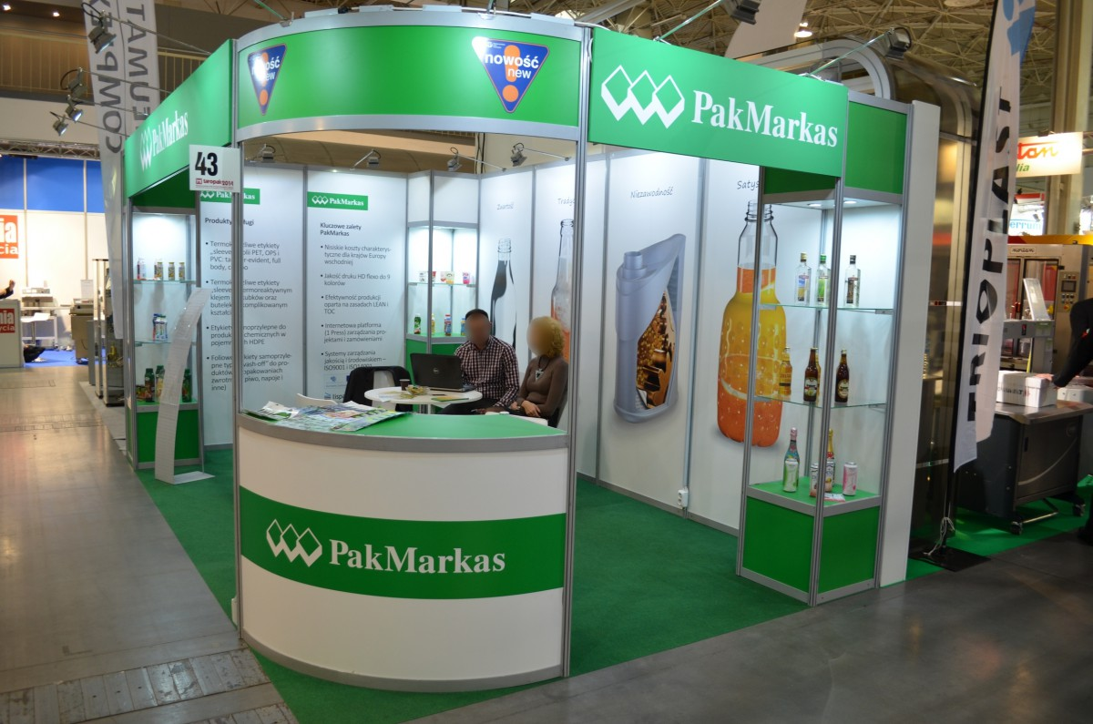 Company stand PakMarkas on trade show TAROPAK 2014