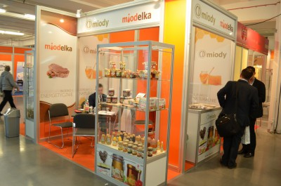 Company stand CD S.A. Miody pszczele on trade show POLAGRA - FOOD 2014