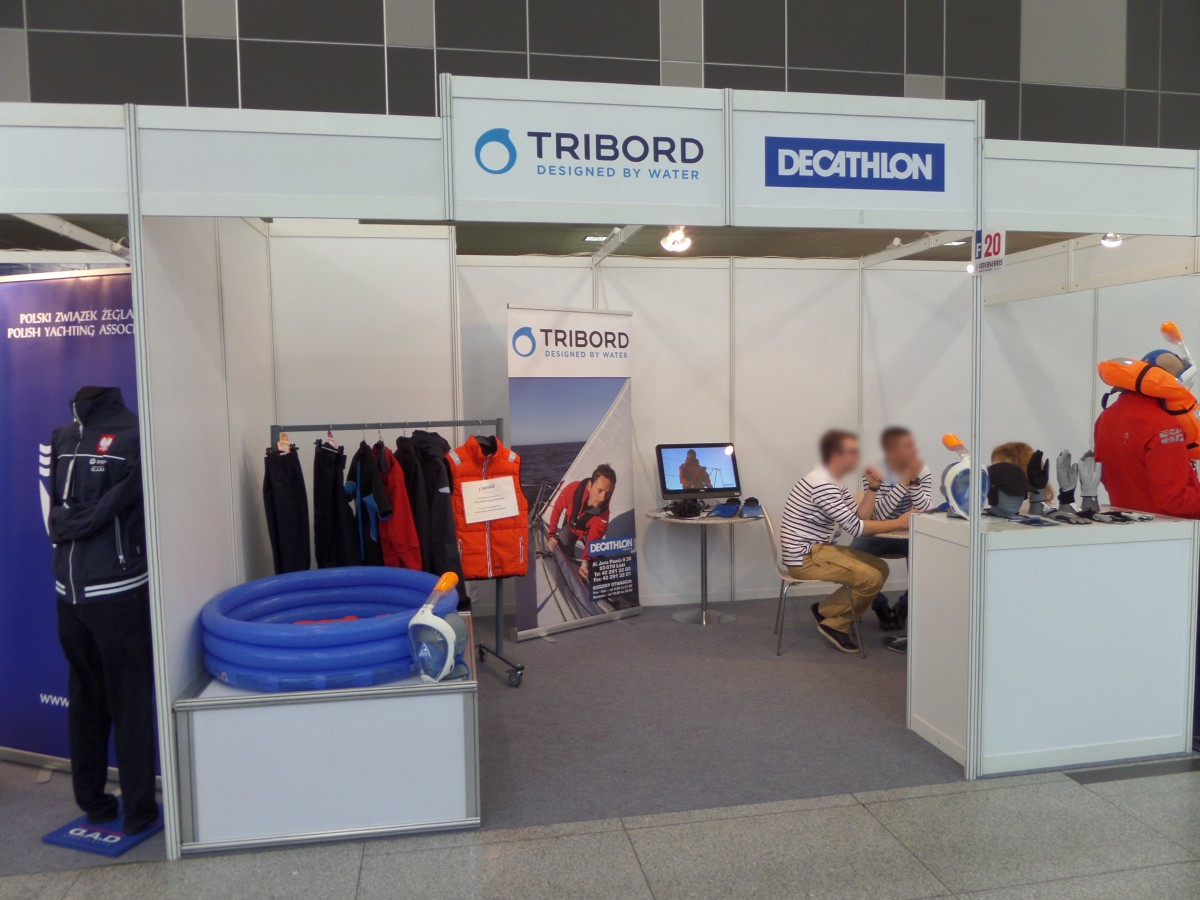 Company stand DECATHLON on trade show BOATSHOW 2014
