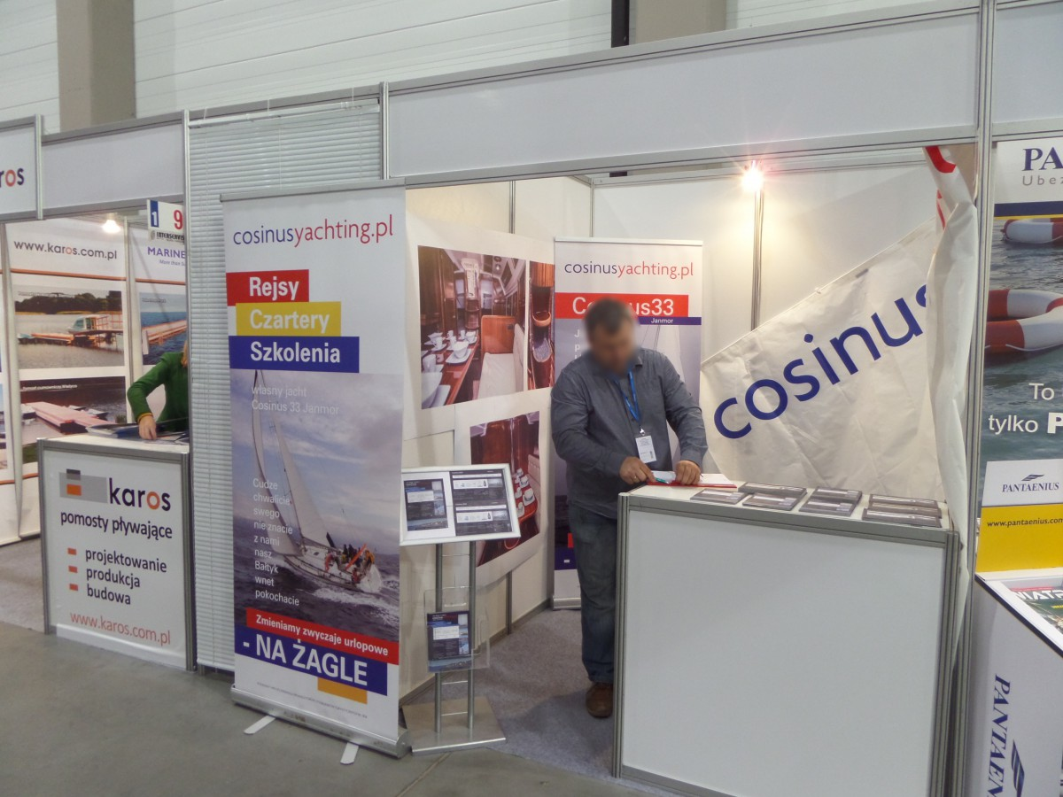 Company stand COSINUS YACHTING on trade show BOATSHOW 2014