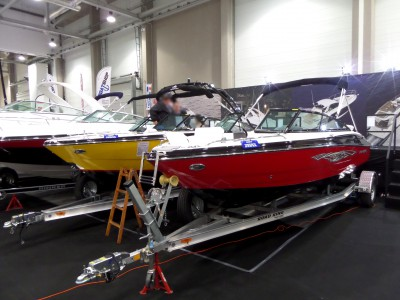 Company stand A.M.S.Boats on trade show BOATSHOW 2014