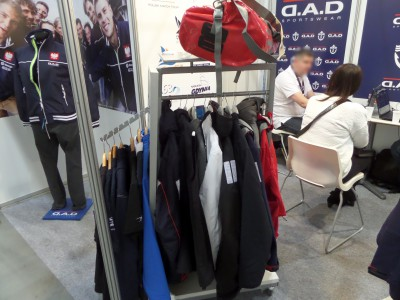 Company stand D.A.D. SPORTSWEAR on trade show BOATSHOW 2014