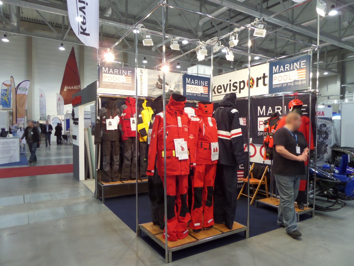 Company stand MARINEPOOL Sportartikel GmbH & Co. KG on trade show BOATSHOW 2014