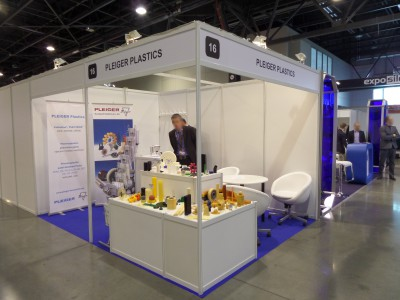 Company stand PLEIGER KUNSTSTOFF GmbH & Co. KG on trade show HAPEXPO & OILEXPO & SilesiaRUBBER 2014