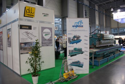 Company stand PRUSSIANI ENGINEERING S.r.l. on trade show KAMIEN-STONE 2014