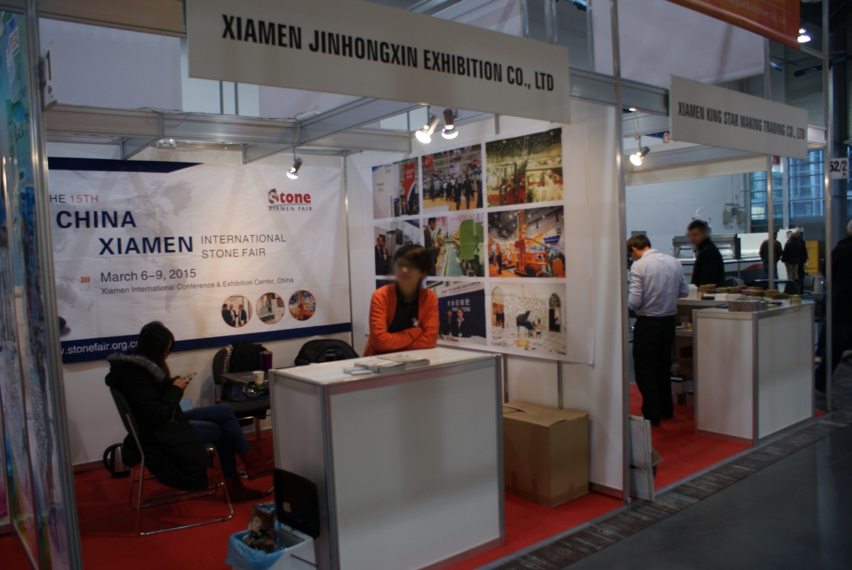 Company stand XIAMEN JINHONGXIN EXHIBITION Co. Ltd on trade show KAMIEN-STONE 2014