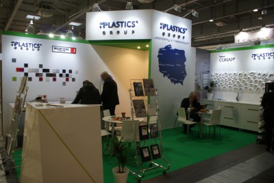 Company stand PLASTICS GROUP Sp. z o.o. on trade show KAMIEN-STONE 2014