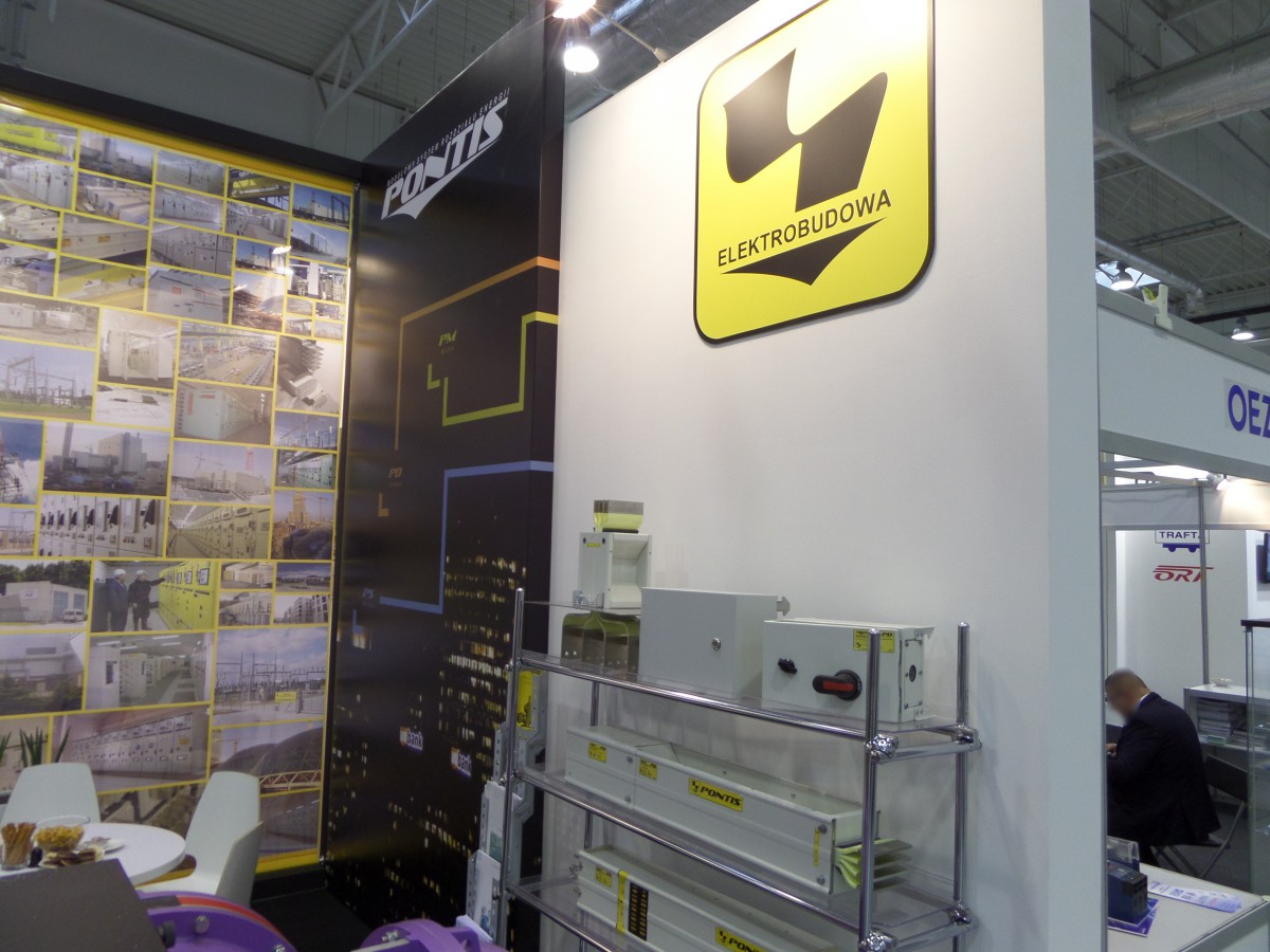 Company stand Elektrobudowa S.a. on trade show ENERGETICS 2014
