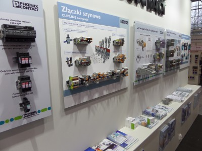 Company stand PHOENIX CONTACT Sp. z o.o. on trade show ENERGETICS 2014