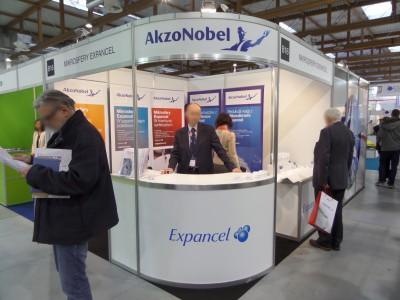 Company stand AKZO NOBEL INDUSTRIAL COATINGS Sp. z o.o. on trade show KOMPOZYT-EXPO 2014