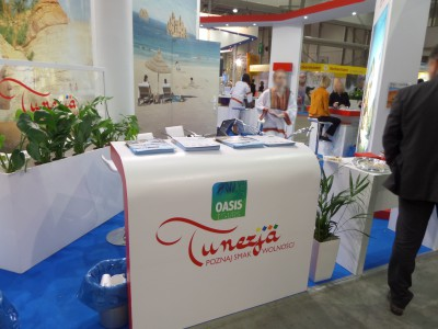 Company stand Oasis Tours on trade show TT WARSAW 2014